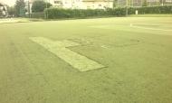 Poškodovana umetna trava, nogomet