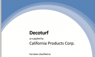 ITF certifikat Deco Turf