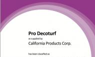 ITF certifikat Pro Deco turf